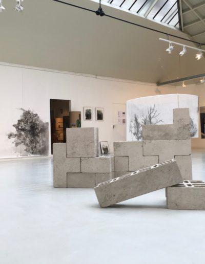 Exposition de l'Association Florence, oeuvres de Gwendal Le Bihan, Shi Shu et Sara Domenach, Espace Commines 2016.
