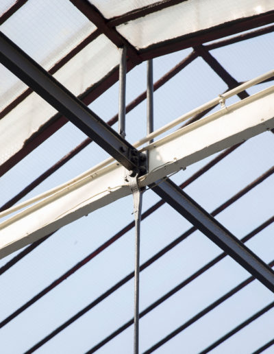 Espace Commines – Glass roof, detail – Photo: Alice Lemarin