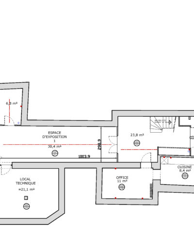 Espace Commines – map – basement