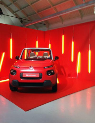 Citroën E-Mehari s'expose dans la #galeriEmehari. Espace Commines, 2016.