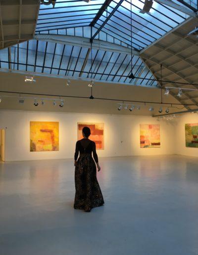 """""""Le temps de peindre"""", an exhibition presented by Monique Frydman, Espace Commines, 2018"""