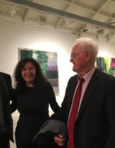 """René Frydman, Monique Frydman et Lionel Jospin, """"Le temps de peindre"""", exposition présentée par Monique Frydman, Espace Commines, 2018"""