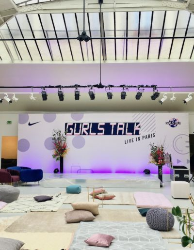 Gurls Talk, in partnership with Nike. Espace Commines, 2019