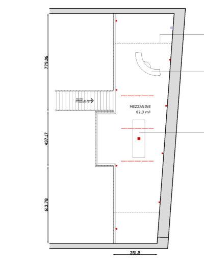 Espace Commines – map – mezzanine