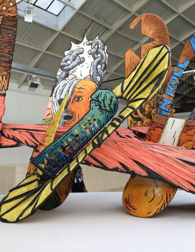 Exposition hors les murs de Urban Art Fair a? l'Espace Commines, 2017