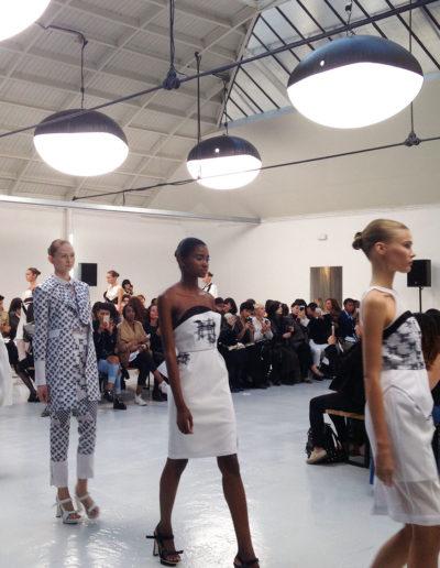 Défilé de mode du créateur Vassily à l'Espace Commines, 2015