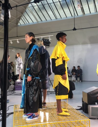 Jarel Zhang, presentation of the collection spring/summer 2019. Espace Commines, 2018.